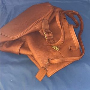 Vintage Coach Cinnamon Leather BACKPACK NICE!!